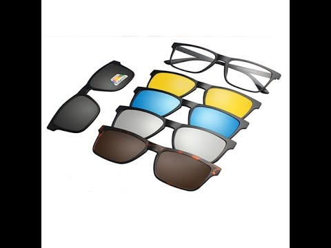 b108aa8d7cd3 6 IN 1 Polarized Sunglasses Magnetic. - YouTube