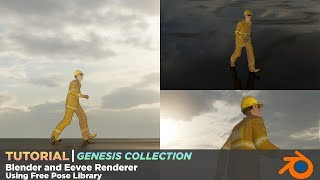 How To Use Genesis Pose Library With Blender and Eevee Renderer - Tutorial