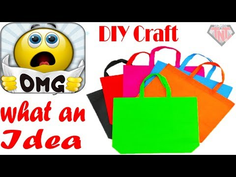Homemade Wall Hanging Using Shopping Carry Bag || Shopping Bag Wallmate idea