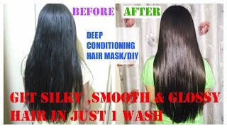 How to get Silky smooth n Straight  hair in one wash || SuperStylish Namrata ||