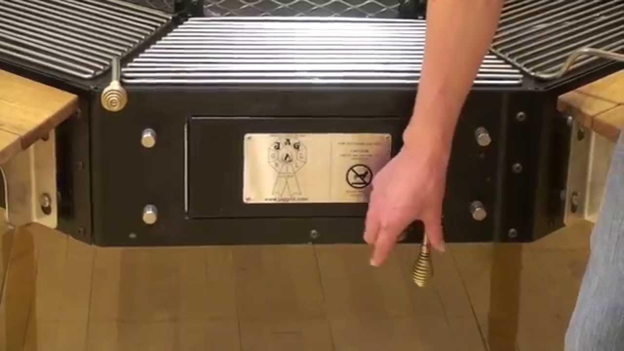 firepit grill table the jag grill side door youtube. Black Bedroom Furniture Sets. Home Design Ideas