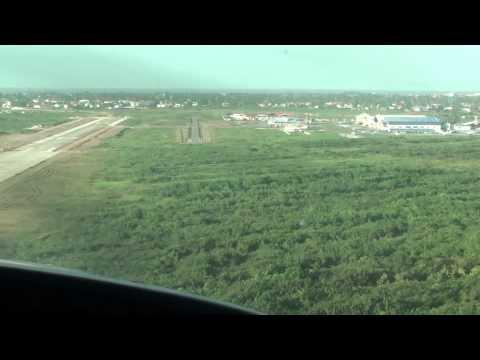Caravan landing at Ogle Airport in Guyana