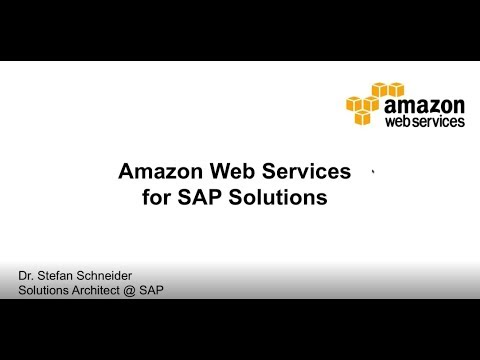 Introduction to AWS services for SAP Workloads