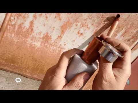 0014 Царга медная диаметром 35мм на клампе 1,5 дюйма без сварки и пайки