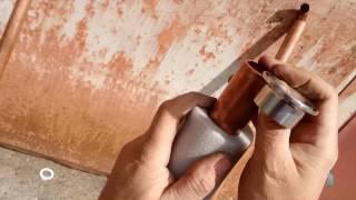 #0014 Царга медная диаметром 35мм на клампе 1,5 дюйма без сварки и пайки