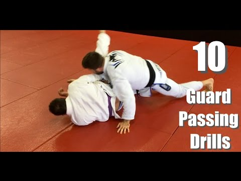 10 BJJ Guard Passing Drills (Starting High And Working Low)