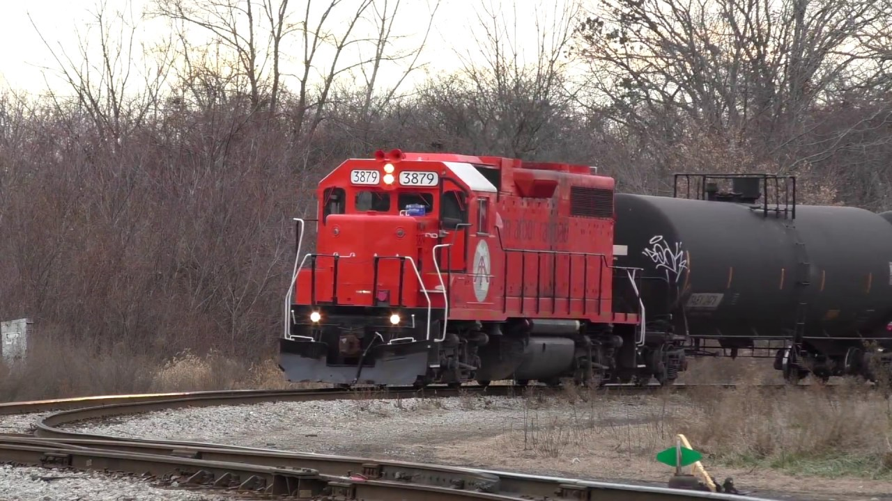 Ann Arbor Railroad Heritage Unit Wamx 3879 Works The