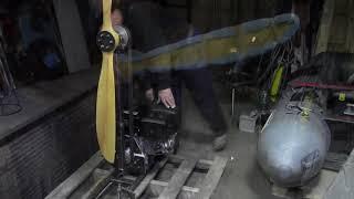 Сборка и испытание винтомоторной установки для аэролодки