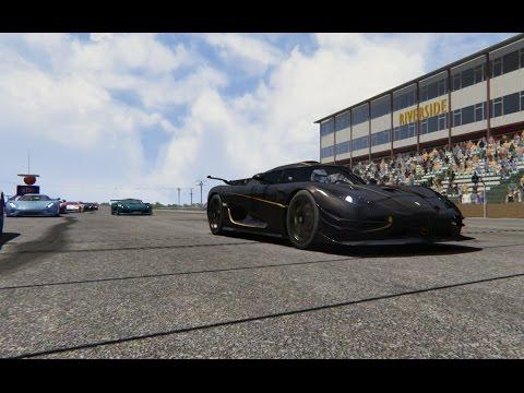 Battle Koenigsegg One:1 vs Supercars & Race Cars at Riverside Raceway