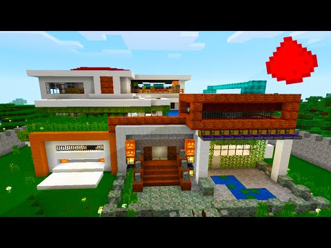Full download modern redstone house in mcpe 0 14 for Modern house mcpe 0 14 0