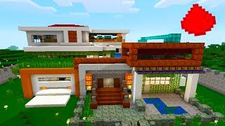 MCPE MODERN REDSTONE HOUSE -