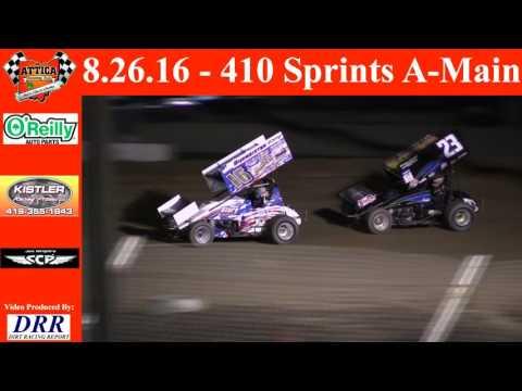 8.26.16 Attica Raceway Park 410 Sprints A-Main