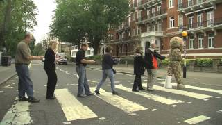 Hero Bear hits Abbey Road