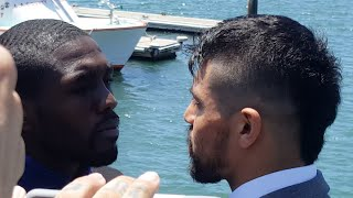 VICTOR ORTIZ V ANDRE BERTO II FACE OFF + FINAL PRESS CONFERENCE
