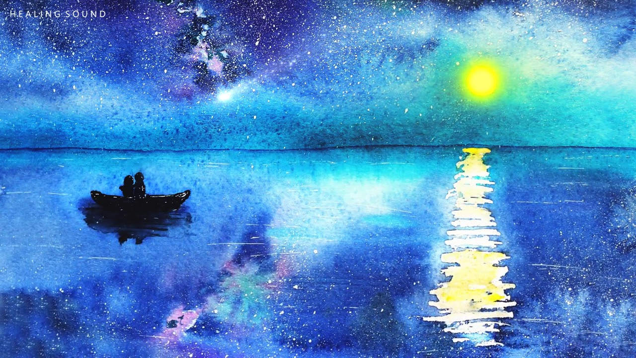아름다운 밤바다 - 델타파 수면유도음악, 힐링주파수 수면음악, 396Hz