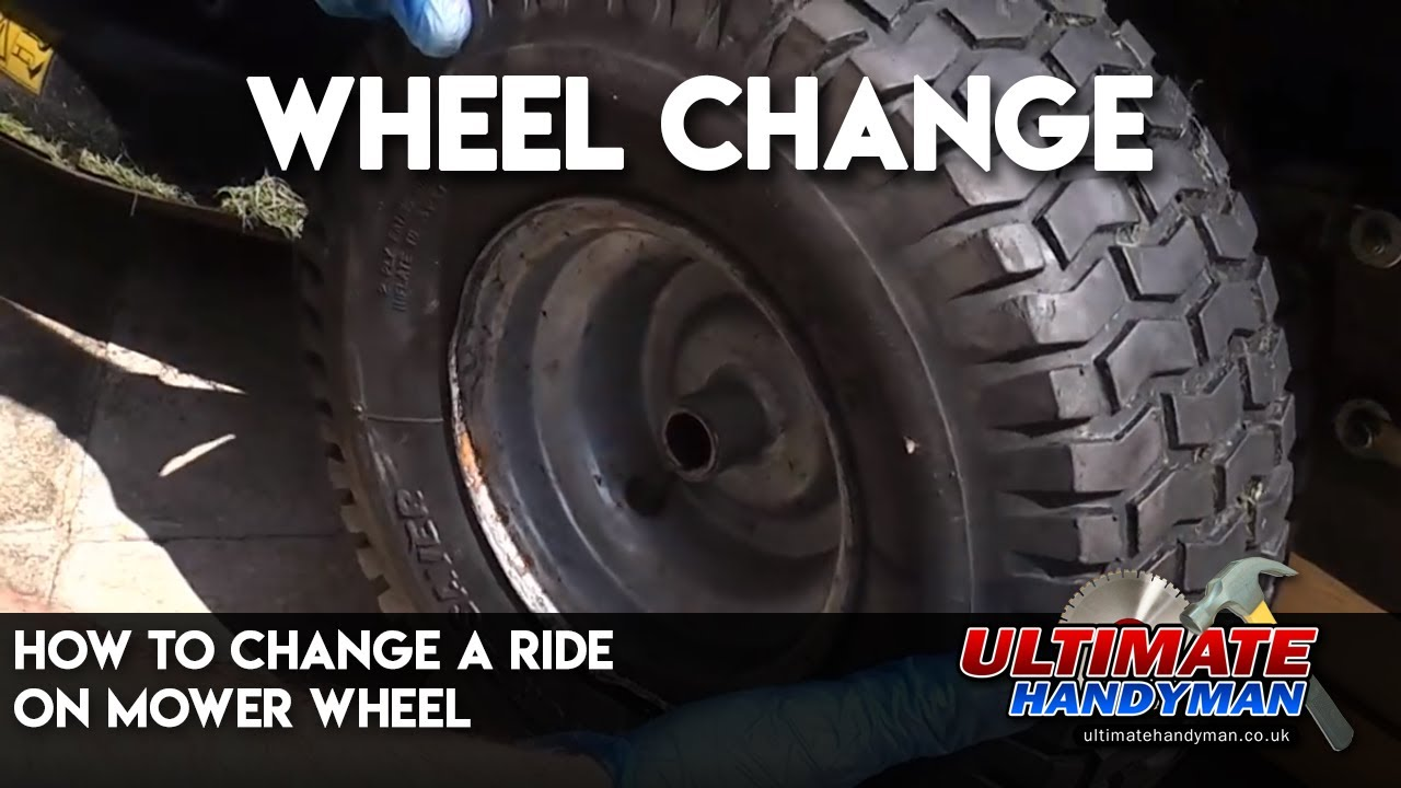 How To Change A Ride On Mower Wheel Youtube