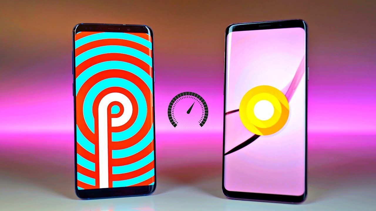 Samsung Galaxy S9 Plus One UI Android 9 0 Pie vs Experience UI Android 8 0  Oreo - Speed Test!