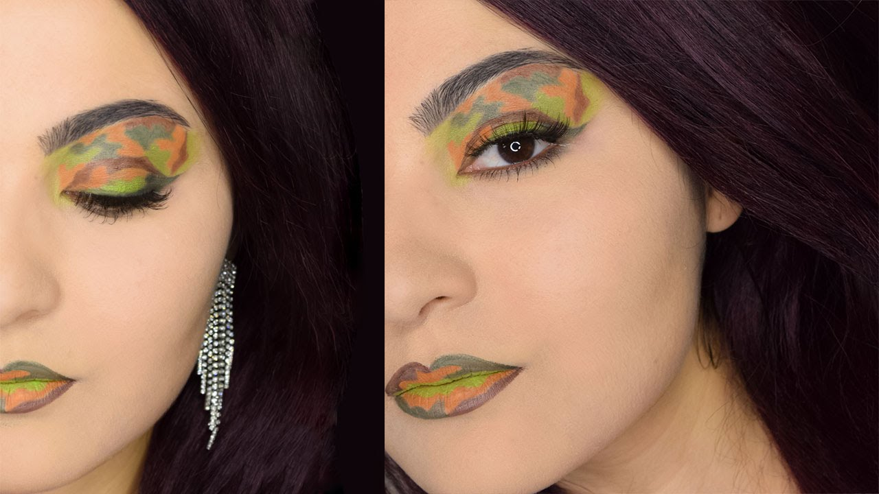 Makeup Look Camouflage Art Delia