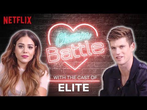 Spanish vs. English Flirting with the Cast of Elite | Charm Battle | Netflix