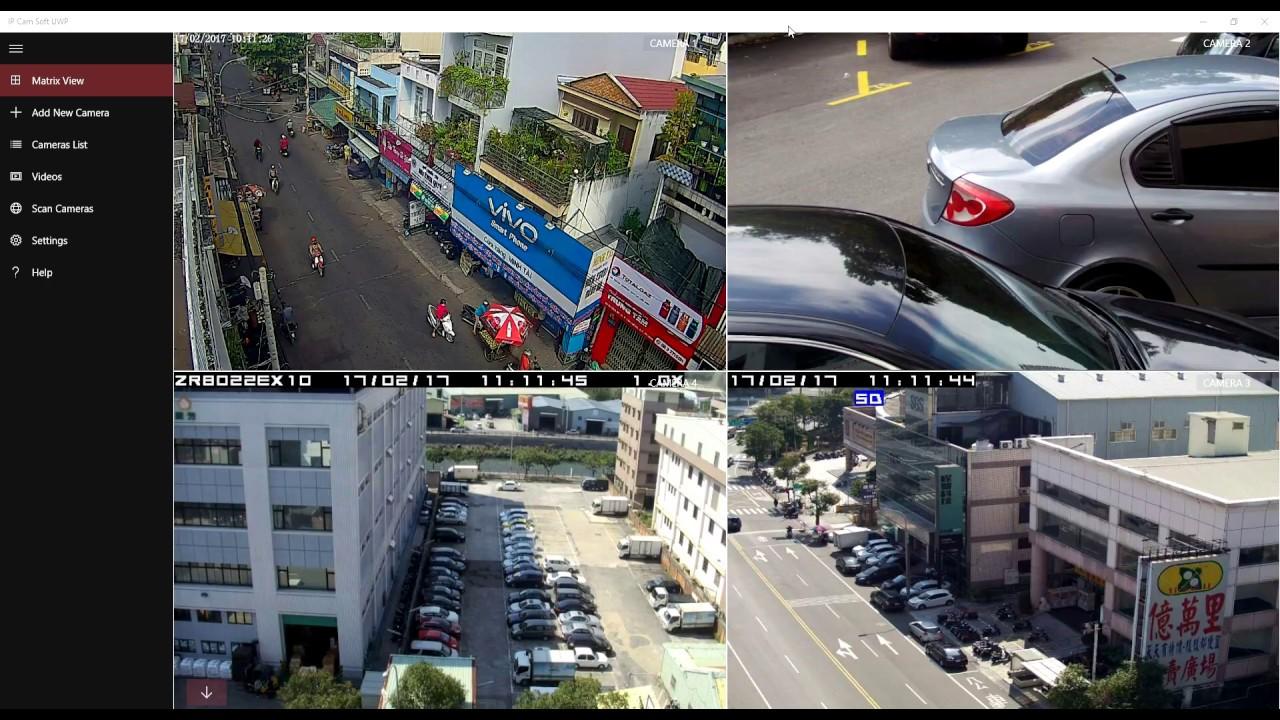 View & control IP cameras using Ip Cam Soft UWP app for Windows