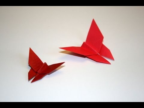 Origami papillon traditionnel traditional butterfly for Tutorial papillon