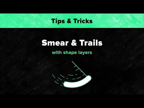 Smear & Trails with Shape Layers