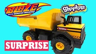 GIANT SURPRISE Dump Truck Surprise Toy Video Peppa Pig Frozen Cars Disney Princess Paw Patrol