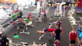 British & Irish Lions 2013 in the gym
