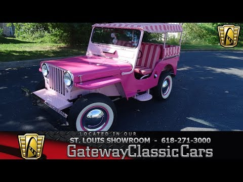 1947 Willys Surrey Gala Jeep Stock #7848 Gateway Classic Cars St. Louis Showroom