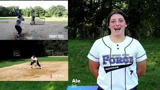 Alexa Fernandez NCAA Softball Skills Video Class of 2022 1st Base 3rd Base