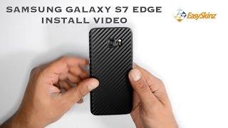 Samsung Galaxy S7 EDGE CARBON Fiber Skin Wrap - Install / Review