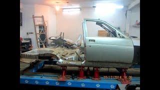 Восстановление перевертыша ВАЗ 2110.   Работа  2014 года.