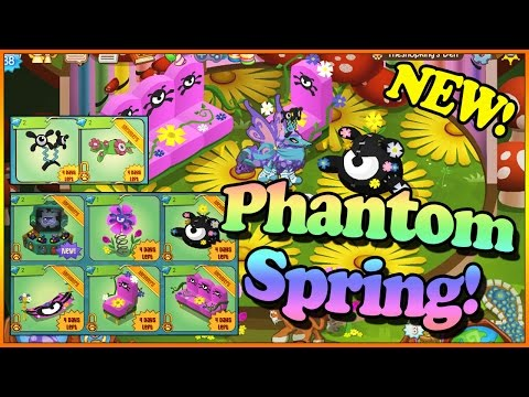 ANIMAL JAM - THESE NEW SPRING PHANTOM ITEMS ARE INCREDIBLE!