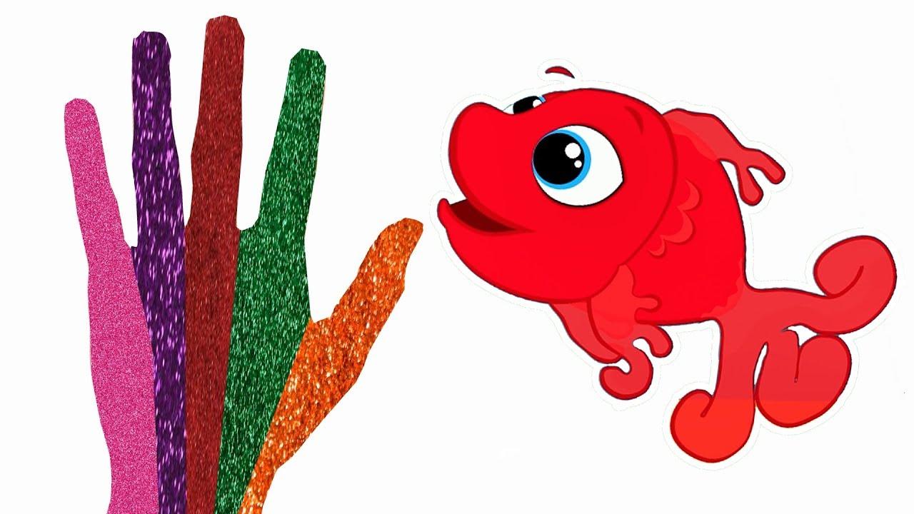 Kırmızı Balık Gölde çocuk şarkıları El Boyama Renkleri öğreniyorum