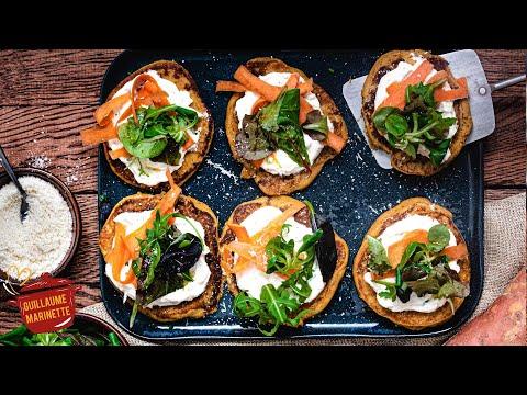 blinis-healthy-&-vegan-de-patate-douce,-avec-un-accompagnement-délicieux-!-recette-facile-et-rapide