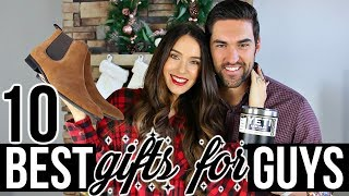 10 BEST Christmas Gifts For GUYS! *with bloopers*