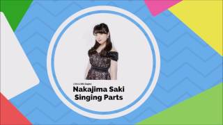 Compilation of Saki's Singing Part Album: 「何故 人は争うんだろう?/Summer Wind/人生はSTEP!」& 「夢幻クライマックス/愛はまるで静電気/Singing~あの頃の ...