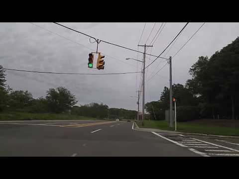 Driving from Old Bethpage in Nassau to Melville in Suffolk,New York