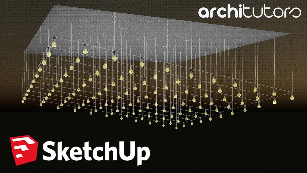 Easy Parametric Ceiling Design in Sketchup | Architutors ...