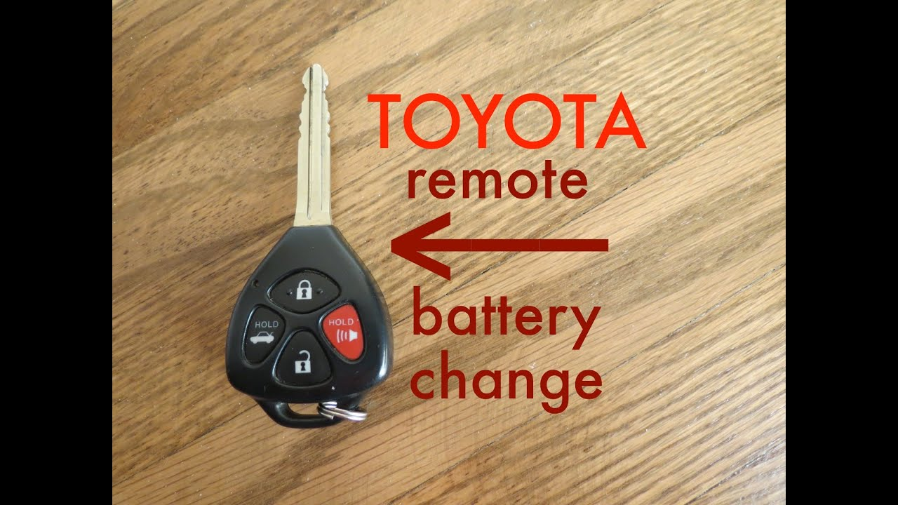 how to toyota key fob remote keyless battery change replace youtube. Black Bedroom Furniture Sets. Home Design Ideas