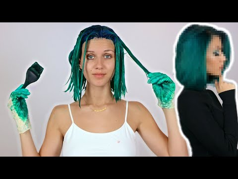 DYEING MY HAIR EMERALD GREEN