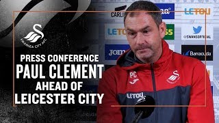 Paul Clement ahead of Leicester