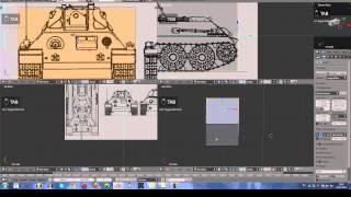 Blender 3D Создание Танка Т-34 (1 часть)