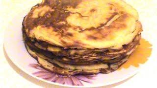 Блинчики на дрожжах. Pancakes On The Yeast.
