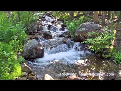 8 HOURS Relaxing Nature Sounds- Meadow Waterfall For Meditation-White Noise