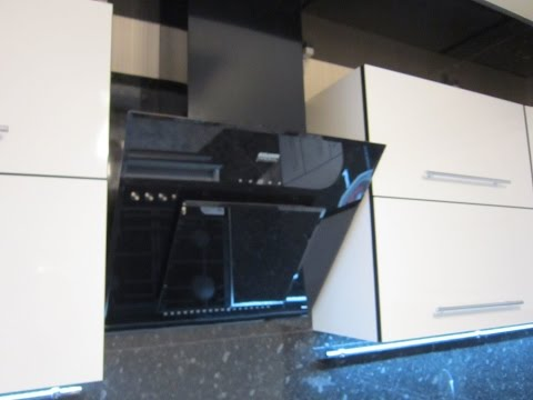 Установка (монтаж) наклонной вытяжки KRONA на кухне. Полный процесс.