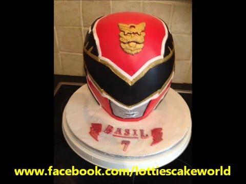 Power Ranger Helmet Cake