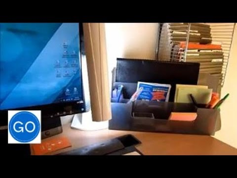 Office Desk Command Center Organize Your Paperwork And