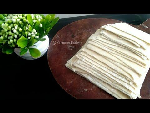 Cara membuat kulit pangsit ( rebus & goreng )