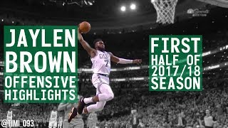 Jaylen Brown OFFENSIVE HIGHLIGHTS First Half of 2017/18 Season